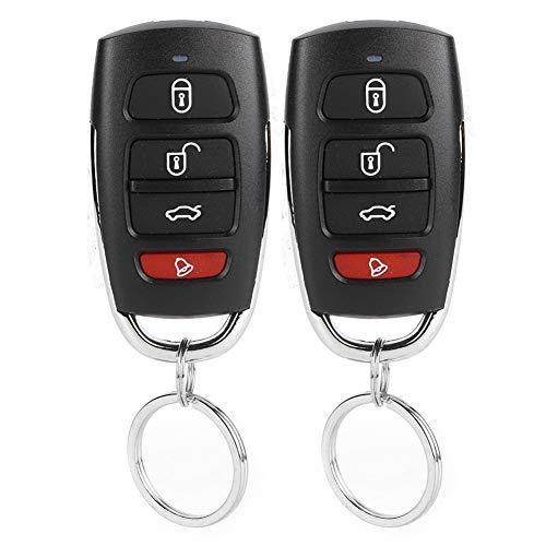 Best Car Alarmbeveiligingssysteem, zwart, universeel auto-alarmsysteem met 4 toetsen, sleutelloos ontry-systeem, centrale vergrendelingsset
