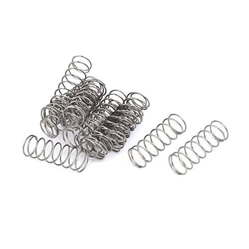 10x Edelstahl Druckfedern Drahtstärke=0,6mm OD=6mm Länge=5mm zu 50mm GLL Neu