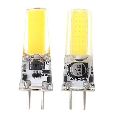 GRV GY6.35 2508 COB 4W DC12~24 V armario LED silicona lámpara colgante de cristal 35W halógena Bombilla de la pista, Cool White, Pack de 2