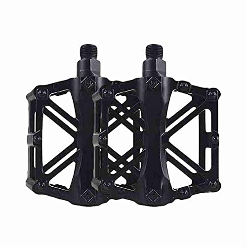 FXJJHXZP 1 Pair Of Mountain Bike Aluminum Alloy Pedals Waterproof X-shaped Pedal And Accessories Bicycle Q5E4 (Color : Black)