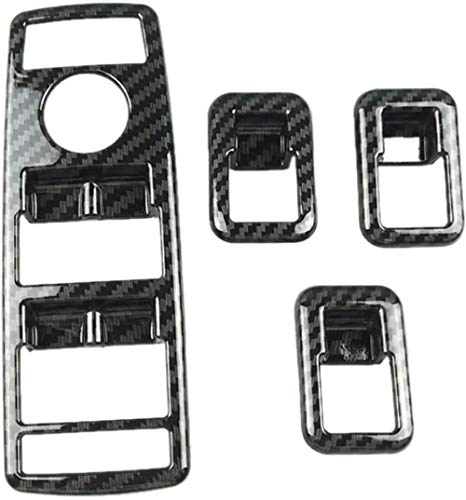 ZHAOHAOSC Autofenster GlashebeknöpfeRahmenpassend, für Mercedes Benz ABCEG CLA CLS GLE GLS GLA GLK ML GLClass (Farbname: Schwarz) - Schwarz