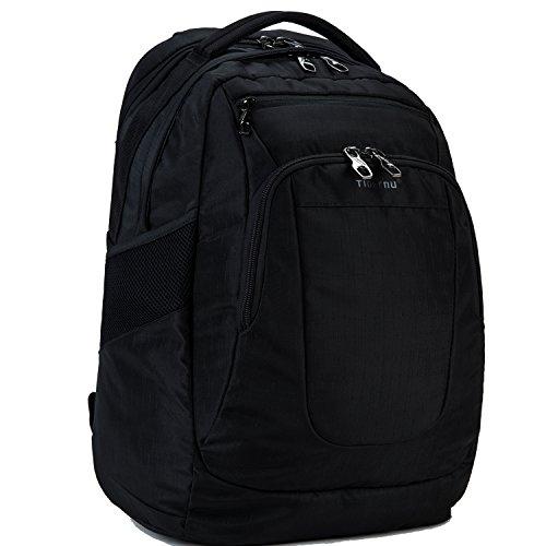 Fubevod Laptop Rucksack Notebook 15 15.6 Zoll für Damen Herren Multifunktions Campus Reise tasche Schwarz