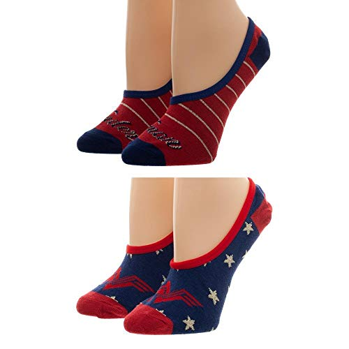 Bioworld Merchandising / Independent Sales Women's Wonder Woman: 2 Pack No Show Liner Socks Standard