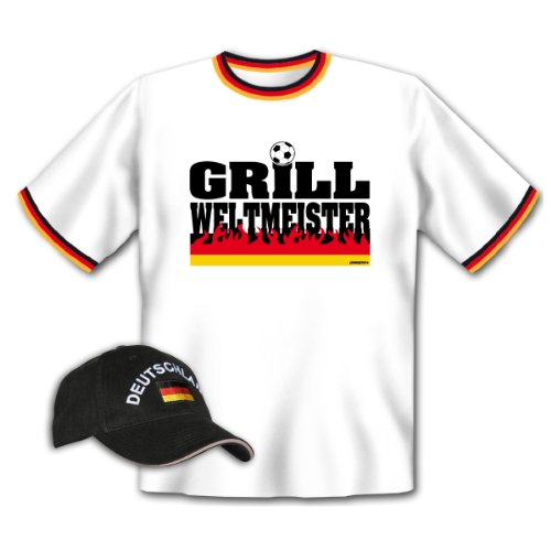 Griller Cap + T-Shirt für Fußball-Fans