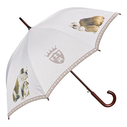 VON LILIENFELD Regenschirm Englische Bulldoggen Auf-Automatik Damen Herren Hund Stockschirm