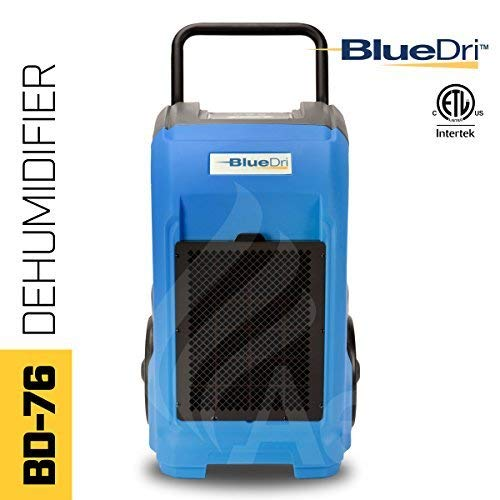 Best Price BlueDri BD-76P-BLUE BD-BD-76-BL Commercial Industrial Dehumidifier, 76 Pints, Blue (Renew...
