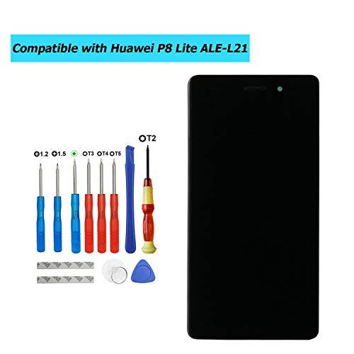 Upplus - Pantalla LCD de Repuesto Compatible con Huawei P8 Lite ALE-L21, ALE-L02, ALE-L23, ALE-UL00 (no Compatible con Huawei P8 Lite 2017)