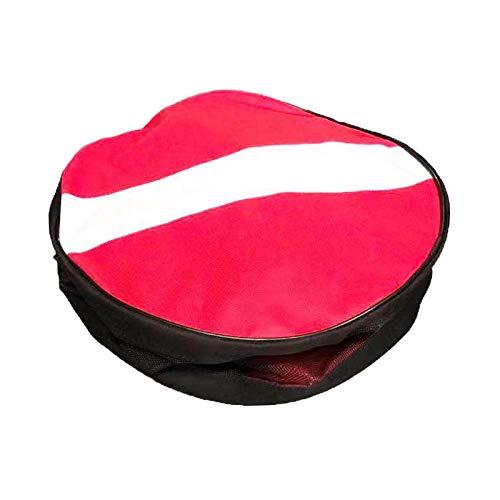 Perfeclan Mochila Plegable de Malla con Bandera de Buceo para Deportes al Aire Libre, Adecuada para Equipos de Buceo, Gran Capacidad y Bolsillo Lateral para un
