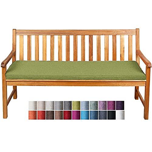 Cuscino per Panche Base BK 100x60x5cm Cuscino di Alta Qualità per Panca da Giardino Balcone Cuscino Lungo Panchina per Dondolo Altalena Divano Esterno