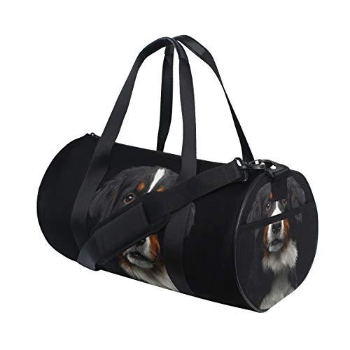 Bolsa de deporte de gimnasio Bernese Mountain Dog Travel Duffel Bag para hombres y mujeres