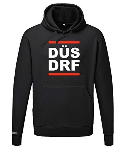 DÜS DRF - DÜSSELDORF - Herren UND Damen - Hoodie in Schwarz by Jayess Gr. XL
