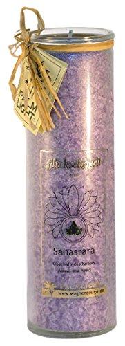 Palm Light Sahasrara 4041678000813 - Candela Chakra, Altezza Circa 20 cm, Viola