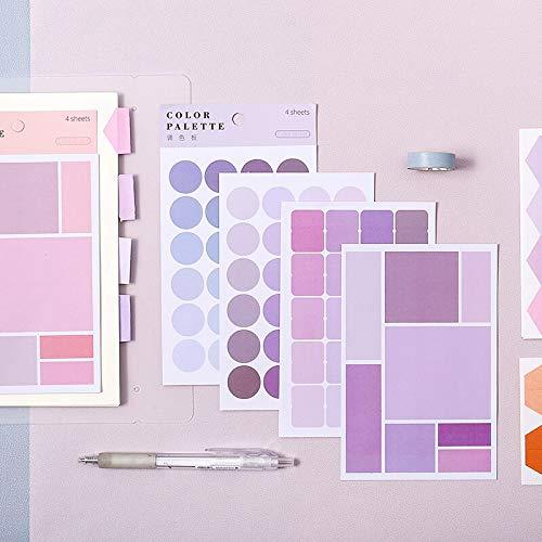 BLOUR Morandi Color System Diario Pegatinas Personalizadas índice Pegatinas de Lunares Ins Viento papelería DIY Pegatinas Escuela Material de Oficina