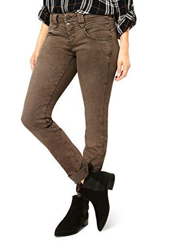 Street One Damen A373458 Jeans, Dark Camel Random Bleach, W26/L32