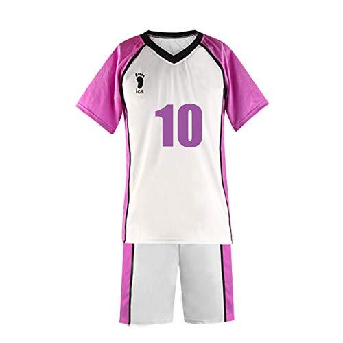 YZJYB Haikyuu!! Camiseta De Manga Corta para Hombre Adulto Anime Shirabu Kenjiro Cosplay Shiratorizawa High School Volleyball Sportswear Disfraz Casual Hipster Deportivas,XX~Large