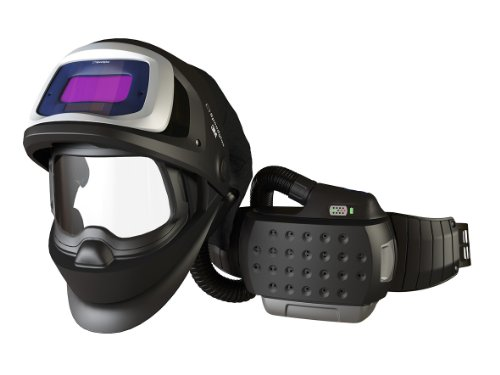 3M 36-3301-10SW Powered Air Purifying Respirator Organic Vapor/Acid Gas and High Efficiency System with 3M Speedglas Welding Helmet 9100 FX-Air, Lithium Ion Battery, Side Windows and Auto-Darkening Filter 9100V, Shades 5, 8-13
