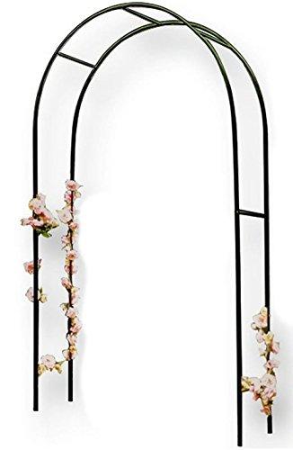Vetrineinrete® Arco per Piante rampicanti Sostegno Supporto per Rose edera Decorazione arredo Giardino in Acciaio 240x140 cm X14