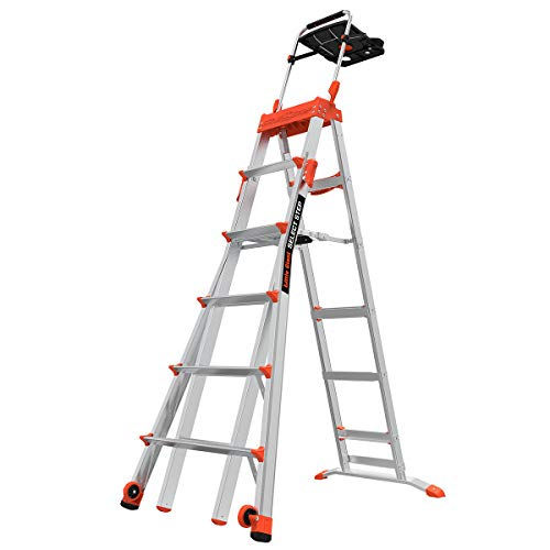 Little Giant Ladders Select Step 610 Foot Stepladder Aluminum Type 1A 300 lbs Weight Rating 15109001