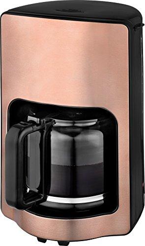 Team Kalorik Filter-Kaffeemaschine mit 1,8 l Fassungsvermögen, Glaskanne, Für bis zu 15 Tassen, 1000 W, Kupfer, TKG CM 1220 K