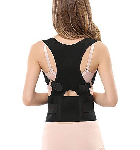 Panegy - Correcteur de Posture Dos Unisexe Ceinture de Correction d'Epaule Cou Femme Homme Ceinture Abdominale Réglable Respirant Couleur Noir Taille XL