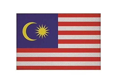 U24 Aufnäher Malaysia Fahne Flagge Aufbügler Patch 9 x 6 cm