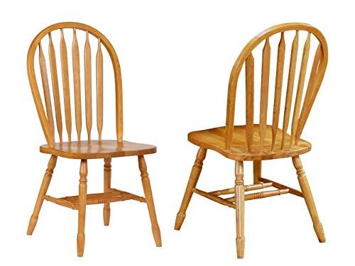 Sunset Trading Arrowback Dining Chair RTA, Set of 2, 38', Light Oak