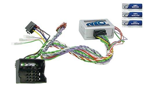 NIQ Lenkradfernbedienungsadapter geeignet für NANOX Autoradios, kompatibel mit Peugeot 207   307   308   407   607   807   3008   5008 mit PDC