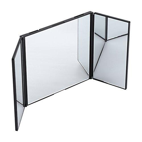Miroir de maquillage pliable - Un miroir de maquillage de voiture rétractable avec une conception large crochet et boucle