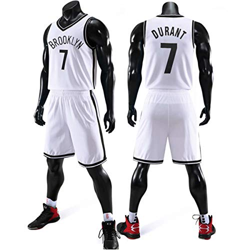 JX-PEP Trikots Set - No. 7 Durant/No. 11 Irvine Stadt Ausgabe Basketball-Hemd-Weste-Spitze Sommer-Shorts,B,2XL