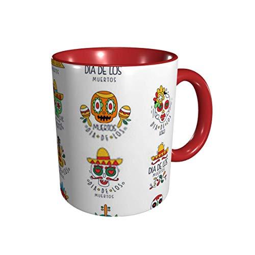 DJNGN Dia De Los Muertos Logo Set Mexikanischer Tag Der tote Feiertag Des Kaffeetasse 11 Gu Division Keramik