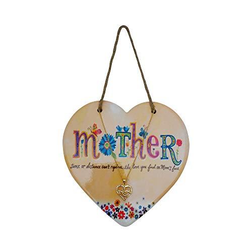 Moederdag Hart opknoping Plaque en Ketting voor moeder handgemaakte hand beschilderde muur accessoires Thuis Verjaardag