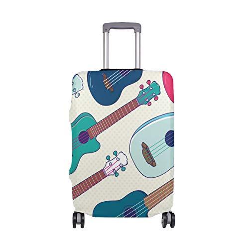 My Daily Hawaiian Ukulele Lunares Funda de equipaje para maleta de viaje de 45 a 32 pulgadas