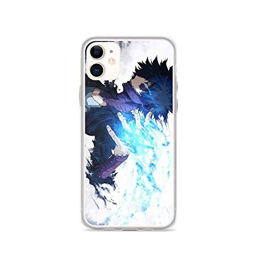 Poreas Compatible with iPhone 11 Case My Hero Academia Anime Dabi Cold Quirk Pure Clear Phone Cases Cover