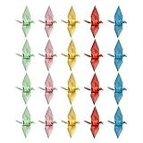 Amosfun 100 Piezas Origami Grullas de Papel Cumpleaños Boda Día de San Valentín Decoraciones para Fiestas 6 Cm (Color Mixto)