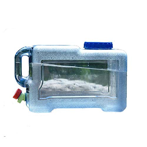 Fablcrew - Jerrican alimentario para camping con grifo de 12 L, depósito de agua potable portátil para el transporte de agua, perfecto para camping al aire libre, viaje, coche o casa