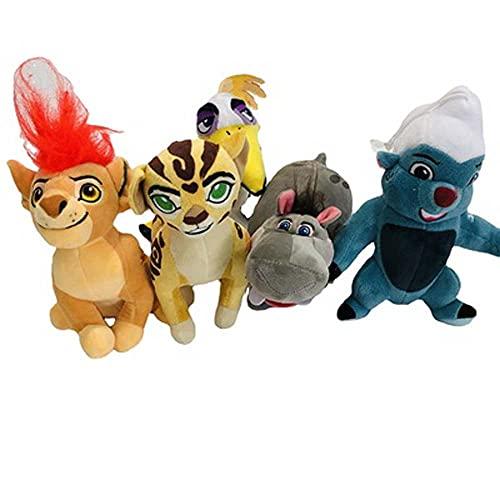 5pcs Cartoon animation movie The Lion Guard Plush toy little Simba lion king hippo cheetah plush toys set