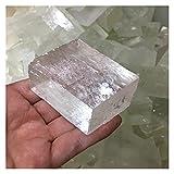 Delawen Optical Calcita Crudo Islandia Spar Spar Natural Piedras y Minerales Curación Piedra Piedra Apagado OFRIENTE Mal ESPIRITUS Dinero Dibujo DE Dibujo Fortuna (Tamaño : 300g)