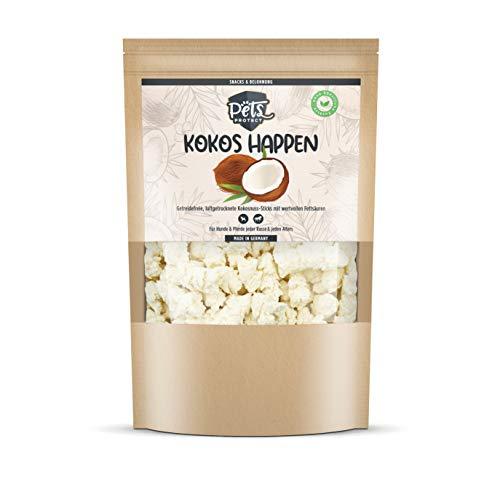 KOKOSHAPPEN | Natürlicher Kokos Snack für Hunde & Pferde | Getreidefrei | Zeckenschutz als Leckerli | Ballaststoffreich | Ohne künstliche Zusätze | 500g | Deutsche Herstellung