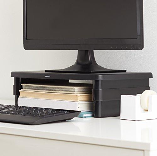 Amazon Basics Bildschirm-Ständer, höhenverstellbar, für Laptop und Bildschirme, mit rutschfesten Füßen