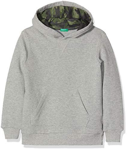 United Colors of Benetton Jungen Sweater W/Hood Pullover, Grau (Grigio Melange 501), One Size (Herstellergröße: X-Small)