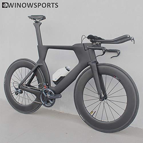 HNHM Winow Sports 700C Complete Bike TT Bicicleta Contrarreloj Triatlón Cuadro de Fibra de Carbono con Grupo R8000 Ultegra y Di2 R8060-Máquina R7000_Tamaño 48 cm