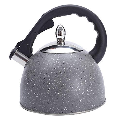 Wasserkocher, 3 Liter Edelstahl Pfeiftee Wasserkocher Lebensmittel-Teekanne mit Anti-Rost- und Anti-Heißgriff-Kochfeld Geeigneter Schnellkochkessel