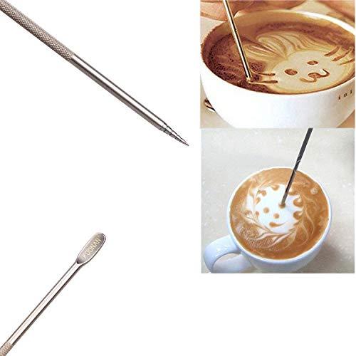Vaisselle Jetable Fête 1000 Pcs Azeroin Utile En Acier Inoxydable Barista Cappuccino Latte Espresso Café Décoration Stylo Art Ménage Cuisine Café Outil
