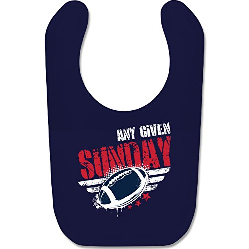 Sport Baby - Any Given Sunday Football New England - Unisize - Navy Blau - football baby - BZ12 - Baby Lätzchen Baumwolle