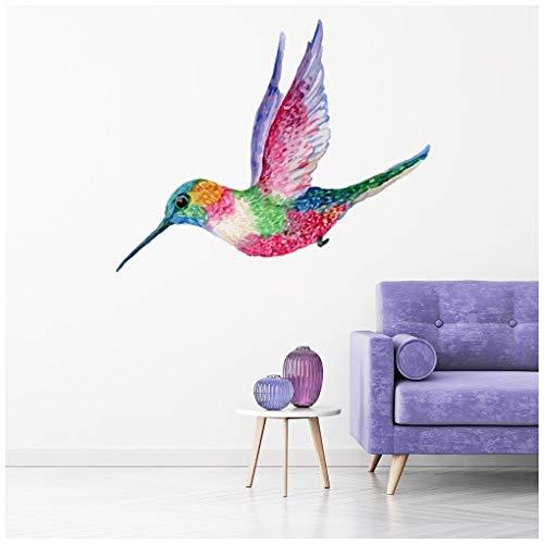 azutura Rosa Kolibri Wandtattoo in 8 Größen erhältlich Digital