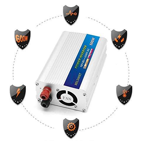 HYISHION Laptop Inverter 12V, Reine Sinus-Wellen-Inverter 220V, 12V - 220V Auto-Inverter, for Laptop-Notebook Camping Road Trip, Silber-12V SKYJIE (Color : Silver, Size : 24V)
