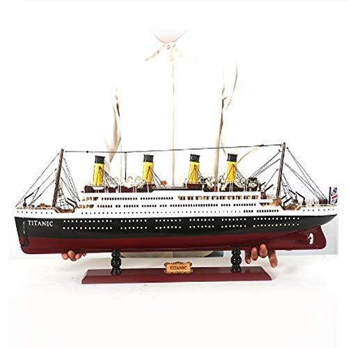 LYXin Modelo Titanic Decoración Decoración Artesanía Barco Armario de Vino Vapor Barco de Madera Velero Sala de Estar Modelo de Barco