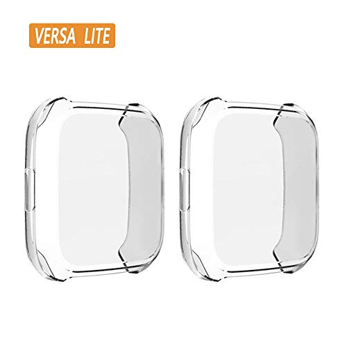 (2-Pack) KPYJA for Fitbit Versa Lite Edition Screen Protector Case,...