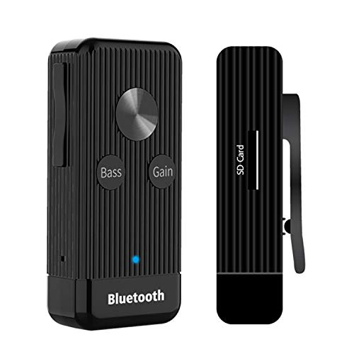 Hi-Fi Headphone Amplifier Portable Headphone Amp 3.5mm Adapter Stereo Audio Out Decoding Bluetooth Receiver with Lithium Battery and Support Gain and Bass for MP3,Phone,Computers etc.