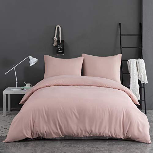 AYSW 14 Couleurs Parure de lit avec Housse de Couette 140 x 190/200 cm + 65 x 65 x 1 cm Parure 2 pièces pour 1 Personne avec Fermeture Éclair